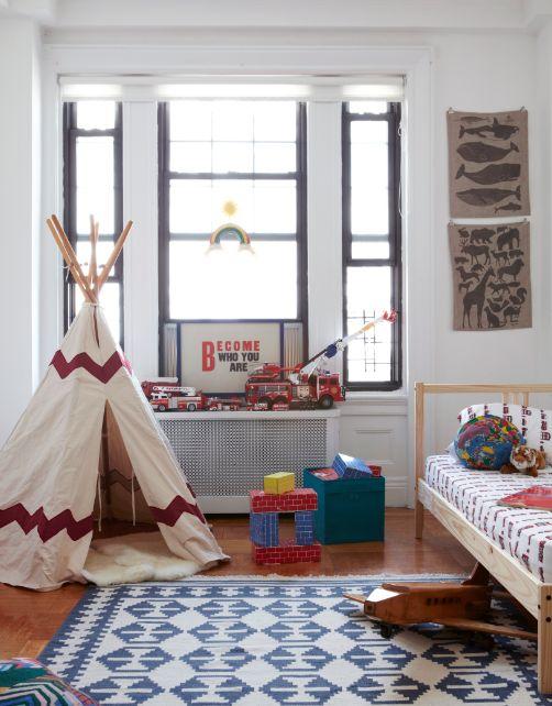habitacion infantil con tipi