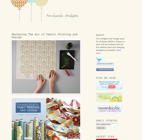 blogs de niños - Handmade Charlotte