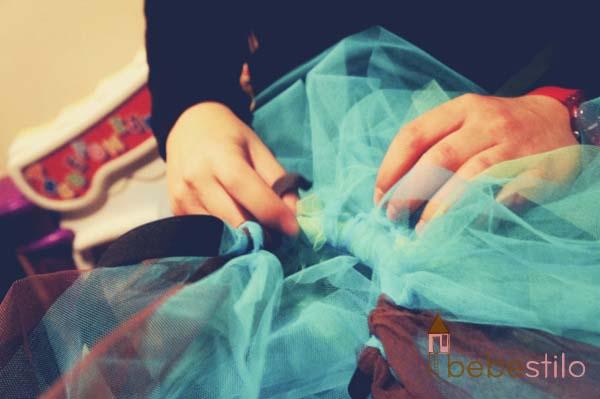 cómo se hace falda tutú niños