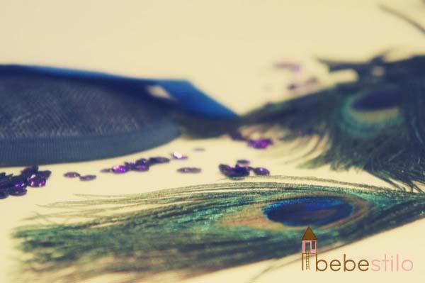 pluma pavo real disfraz