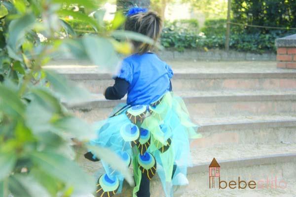 disfraces casero niños pavo real