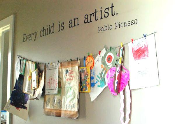art craft kids room space