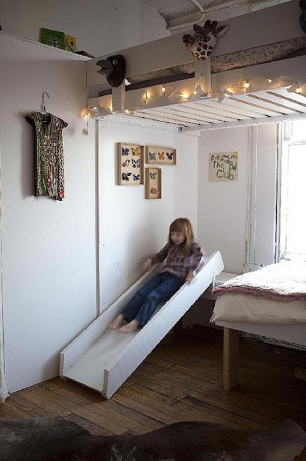 Inspiraci n un tobog n en la habitaci n de juegos - Habitaciones infantiles unisex ...