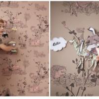 Contar historias en las paredes con papel pintado