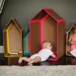 Juegos con niños: casitas de cartón