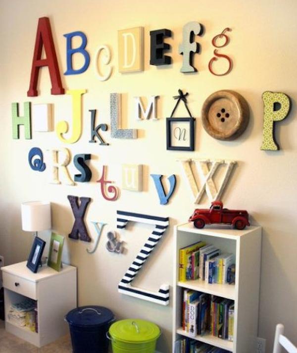 decorar paredes con letras