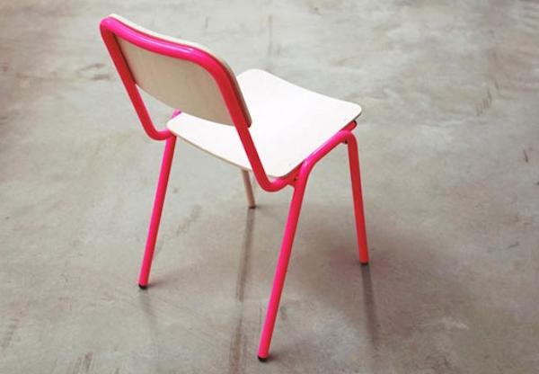silla de niños rosa fluor