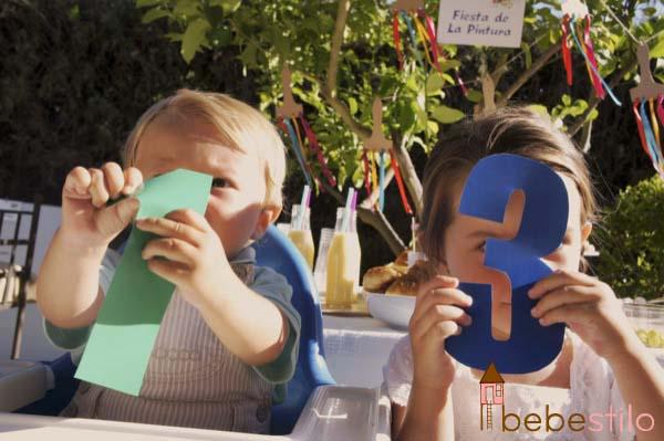 cumpleaños infantil de la pintura / painting party