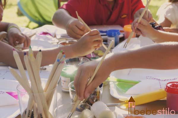 pintar con niños / kids painting