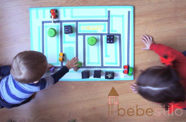 DIY Coches washi tape city para niños / Washi city for kids