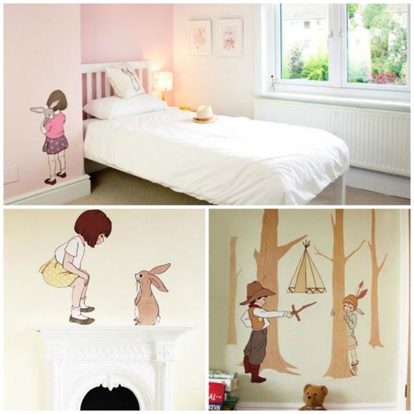 vinilos infantiles bebabe belle & boo stickers for kids rooms