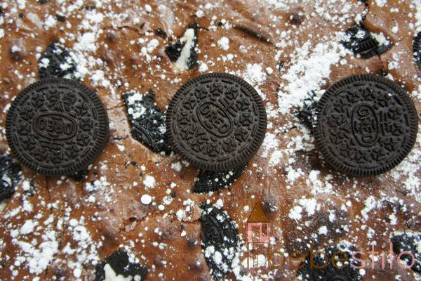 brownie de galletas de oreo / cookies fudge cream brownie