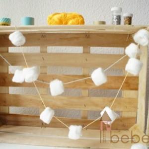 {Stiloproyectos nº 53} DIY Guirnalda de algodón