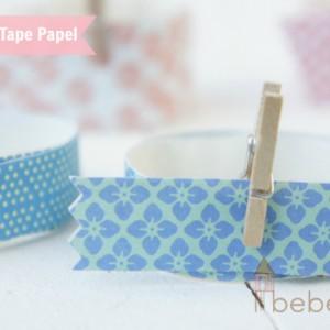 Washi tape casero (II): Washi tape de papel