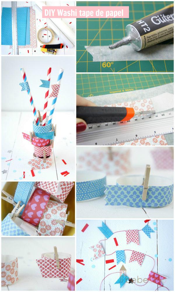 como hacer washi tape casero handmade