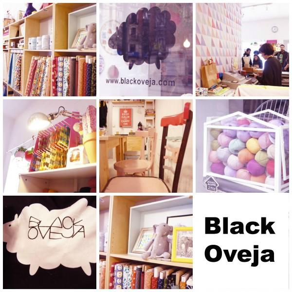Black Oveja lanas talleres punto madrid