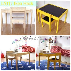Ikea hack: mesita y sillas LÄTT