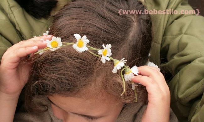 coronas de margaritas para el pelo - Como Hacer Diademas De Flores