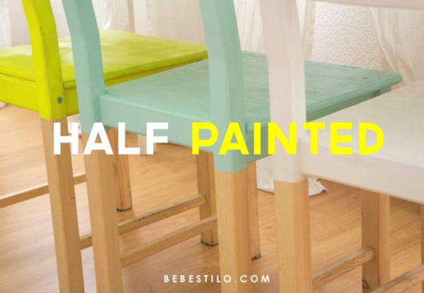 silla-pintadas-ikea-ivar-hack-half-painted