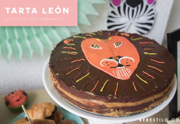 tarta-leon-galletas-chocolate