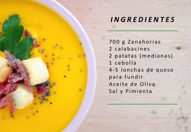 Crema de zanahoria y calabacines con queso sonambulistas for La zanahoria es una hortaliza