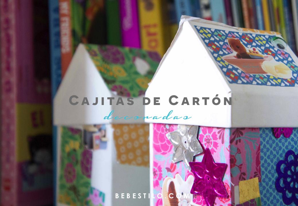 Diy cajas de cart n decoradas sonambulistas - Manualidades en carton ...