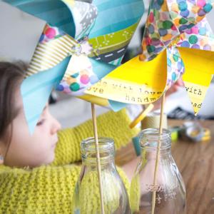 DIY Molinillos de papel de washi tape