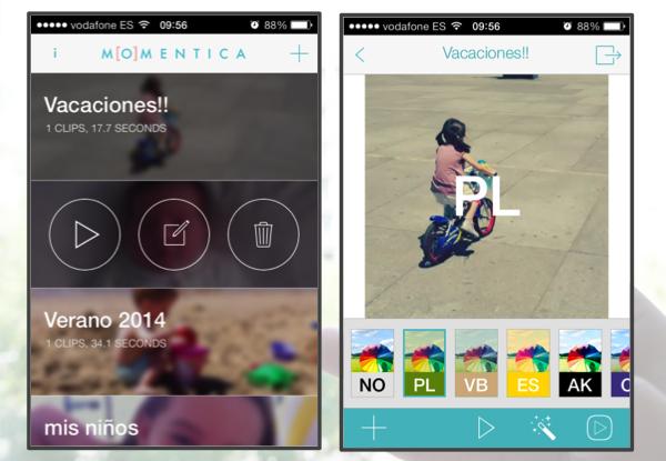 momentica app para videos móvil