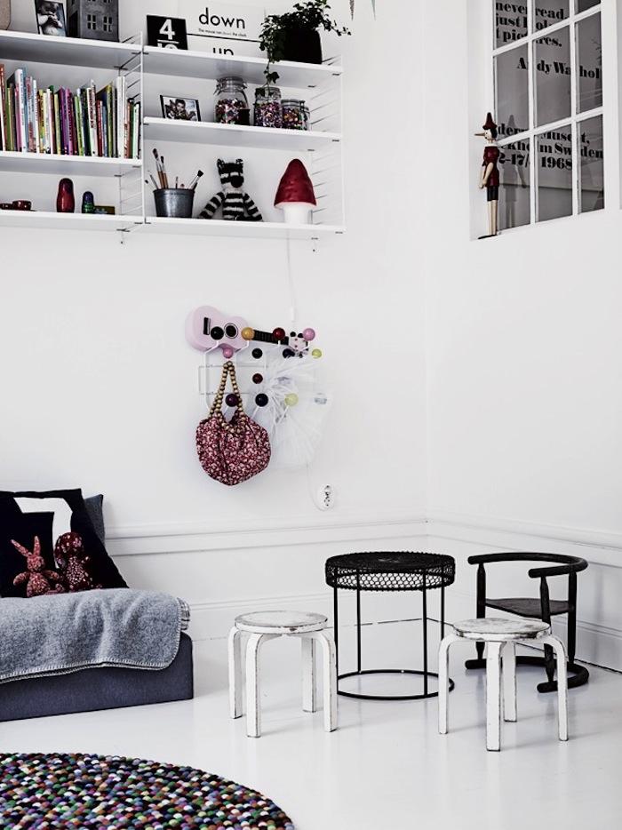 habitacion infantil blanco y negro canalla