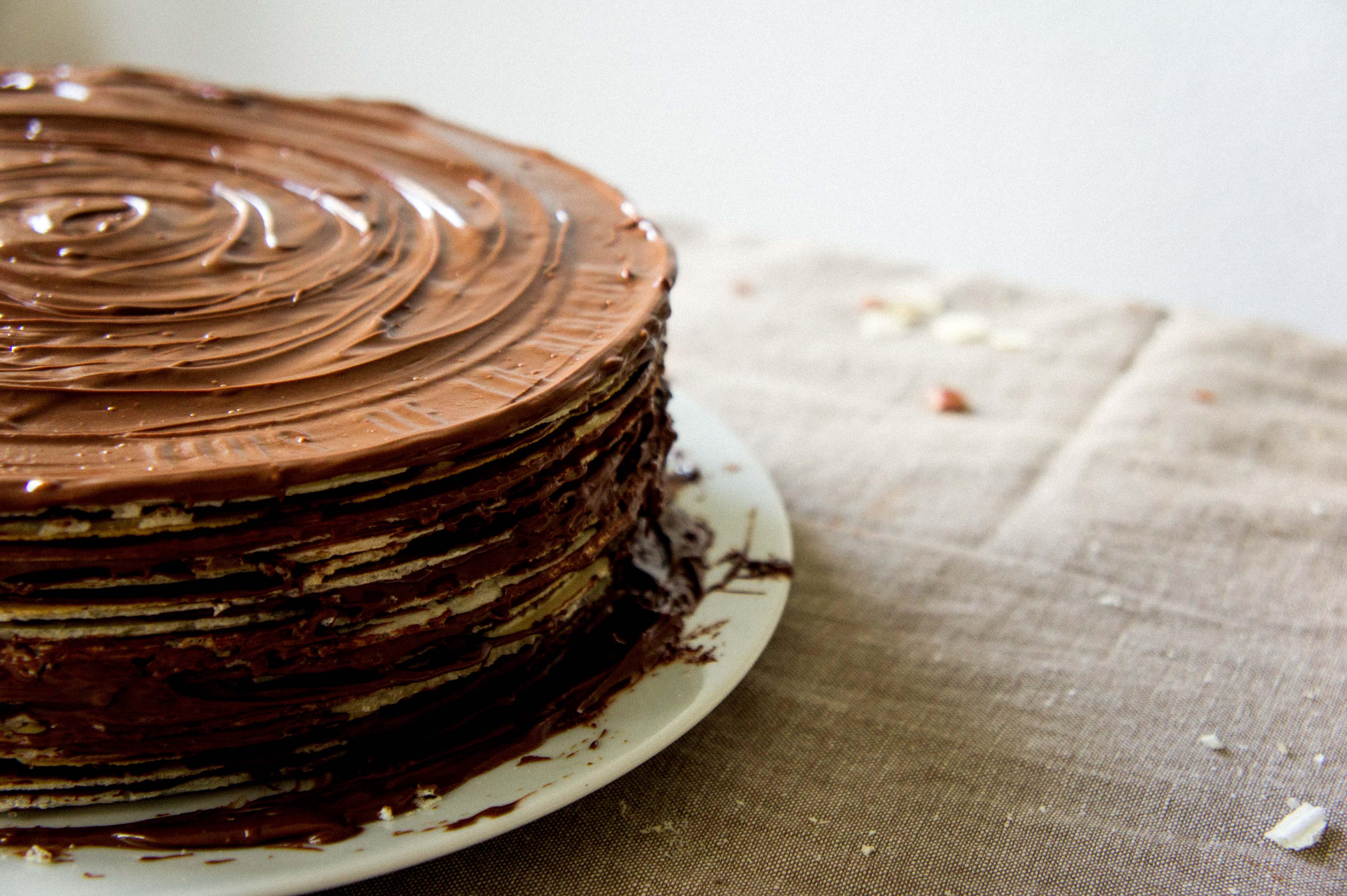 Tarta De Huesitos Con Nutella Y Obleas Sonambulistas