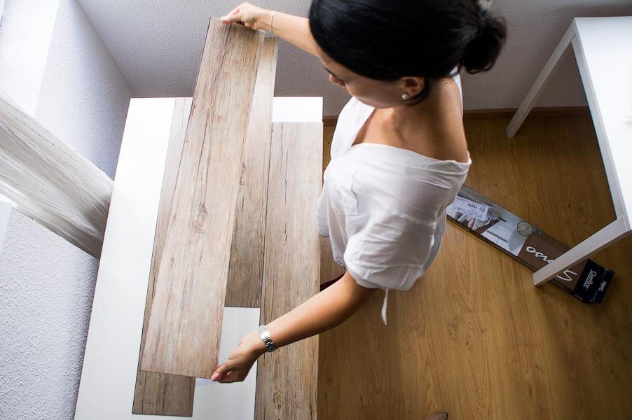 Diy c mo hacer un fondo de madera para tus fotos - Como pintar una pared ya pintada ...