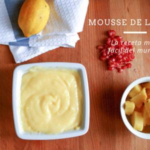 La receta de mousse de limón más fácil del mundo