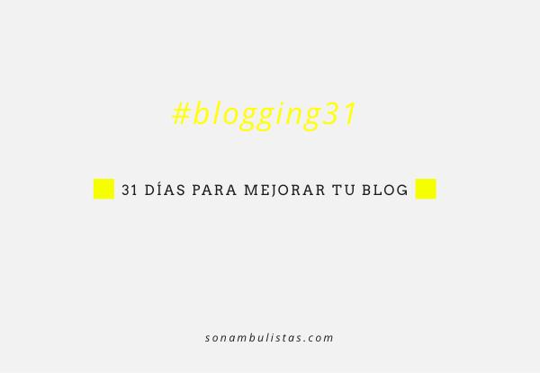 31 dias para mejorar tu blog