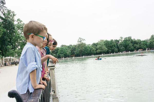 parque El Retiro con niños