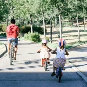 Paseos en bici en familia