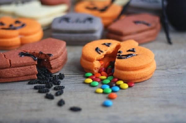 galletas de halloween rellenas