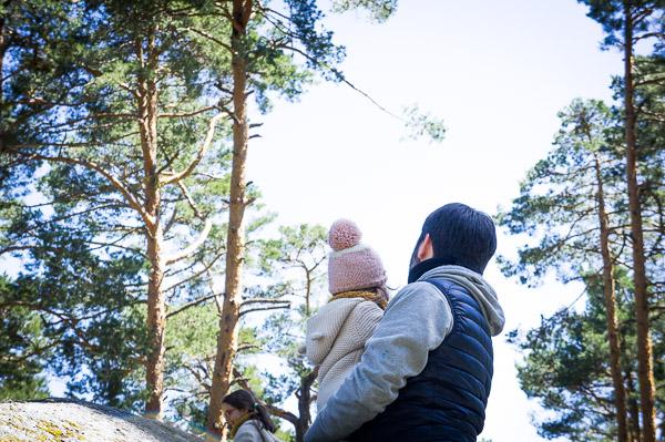 Sierra de Madrid con niños