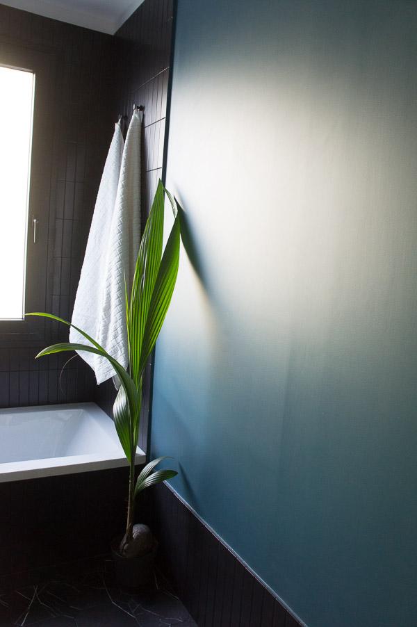Rodapie pieza rectangular azulejo mate negro